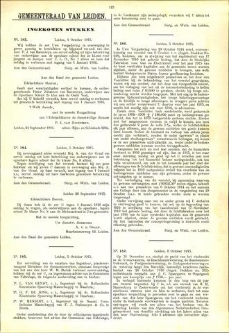 Handelingen van de Raad 1915-10-01