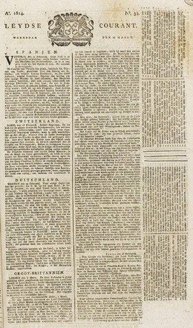 Leydse Courant 1814-03-16