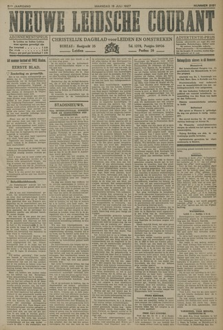 Nieuwe Leidsche Courant 1927-07-18