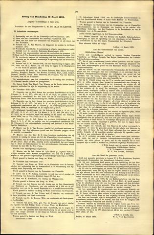 Handelingen van de Raad 1885-03-19