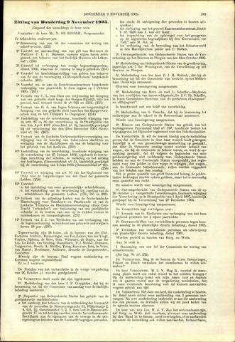 Handelingen van de Raad 1905-11-09