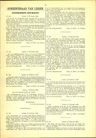 Handelingen van de Raad 1932-02-12
