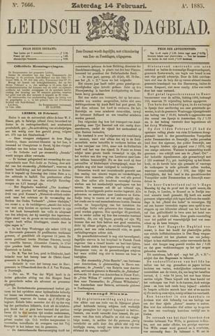 Leidsch Dagblad 1885-02-14