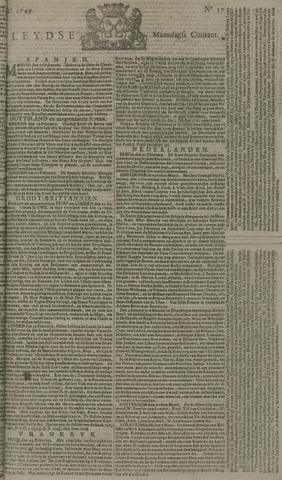 Leydse Courant 1749-03-03