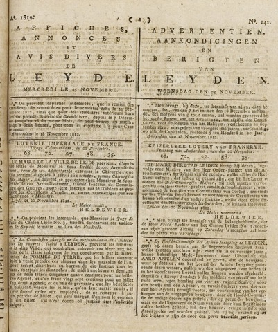 Leydse Courant 1812-11-25