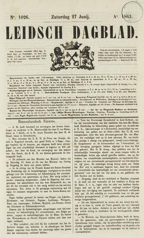 Leidsch Dagblad 1863-06-27
