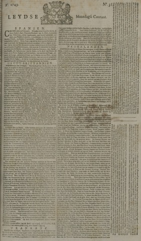 Leydse Courant 1743-03-25