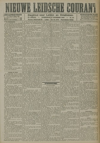 Nieuwe Leidsche Courant 1923-12-27