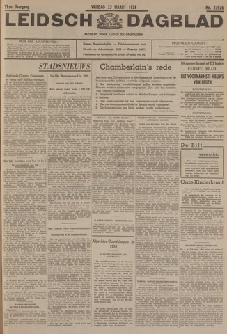 Leidsch Dagblad 1938-03-25