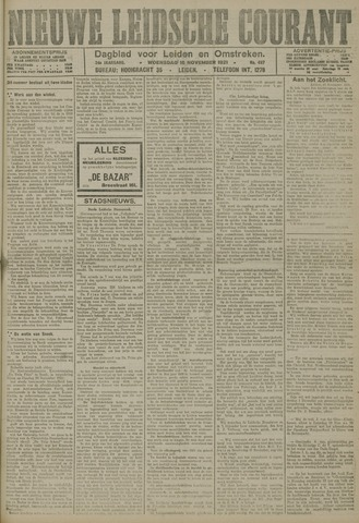 Nieuwe Leidsche Courant 1921-11-16