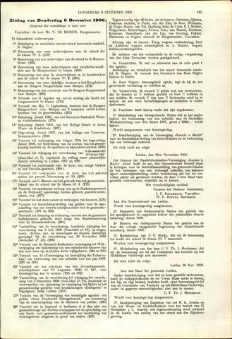 Handelingen van de Raad 1906-12-06