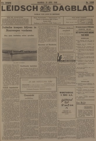 Leidsch Dagblad 1940-04-29