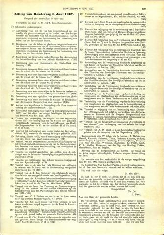 Handelingen van de Raad 1907-06-06