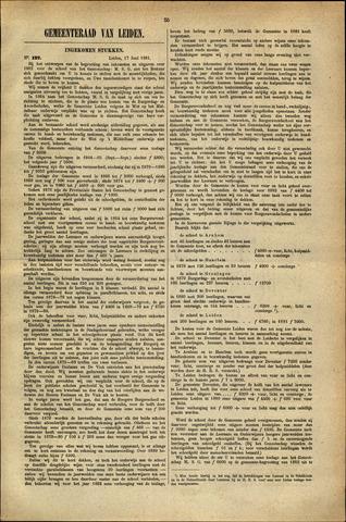 Handelingen van de Raad 1881-07-17