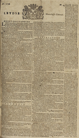 Leydse Courant 1759-04-09