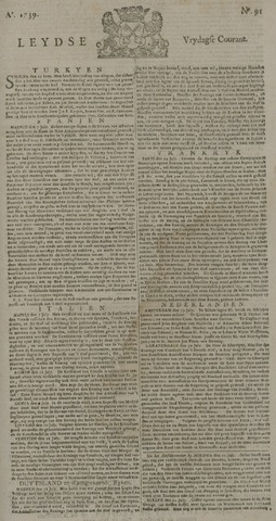Leydse Courant 1739-07-31