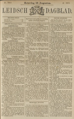 Leidsch Dagblad 1885-08-15