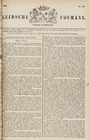 Leydse Courant 1884-02-22