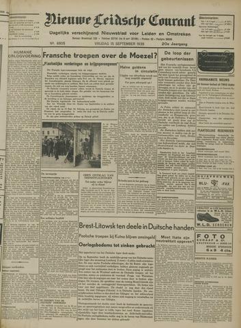 Nieuwe Leidsche Courant 1939-09-15