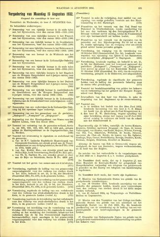Handelingen van de Raad 1932-08-15