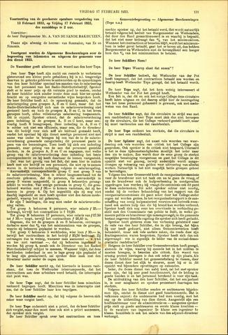 Handelingen van de Raad 1933-02-17