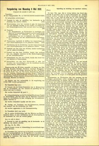 Handelingen van de Raad 1932-05-09