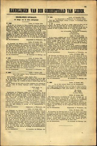 Handelingen van de Raad 1872-10-31