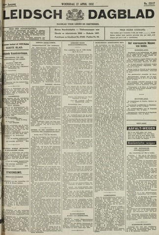 Leidsch Dagblad 1932-04-27