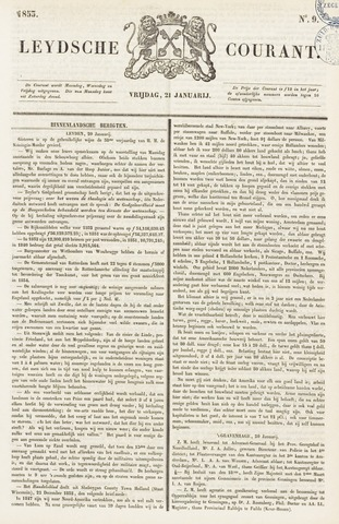 Leydse Courant 1853-01-21