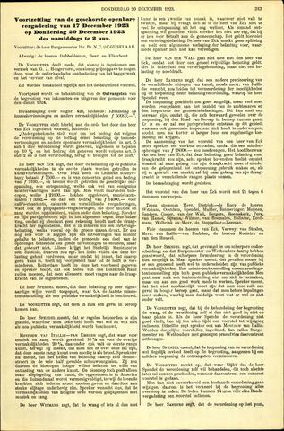Handelingen van de Raad 1923-12-20