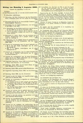 Handelingen van de Raad 1930-08-04