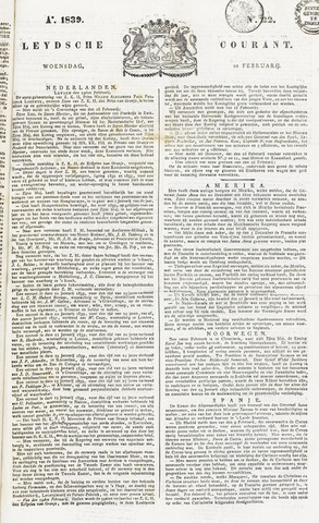 Leydse Courant 1839-02-20