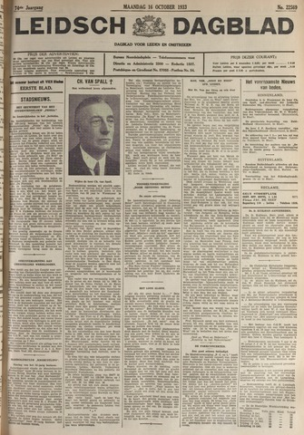 Leidsch Dagblad 1933-10-16