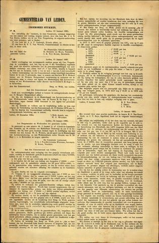 Handelingen van de Raad 1885-01-10