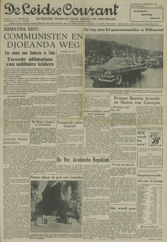 Leidse Courant 1958-02-05