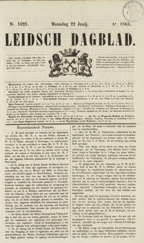 Leidsch Dagblad 1863-06-22
