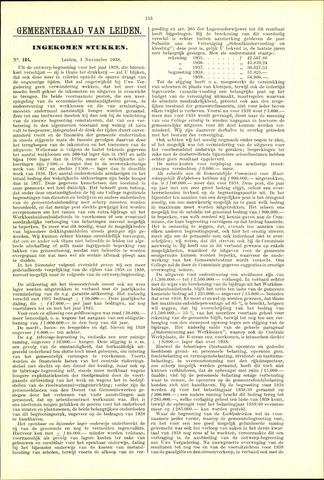 Handelingen van de Raad 1938-11-03
