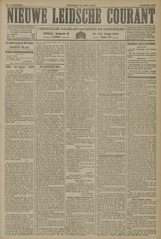 Nieuwe Leidsche Courant 1927-04-30