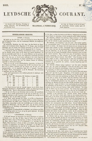 Leydse Courant 1855-02-05