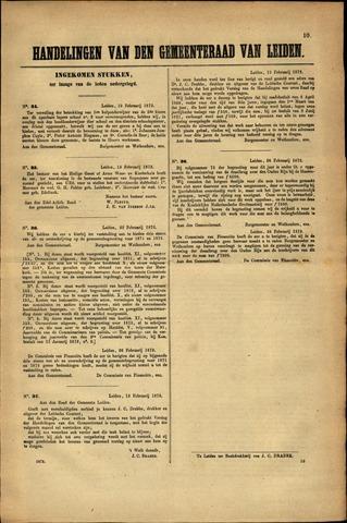 Handelingen van de Raad 1872-02-19