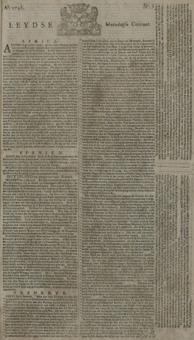 Leydse Courant 1748-01-15