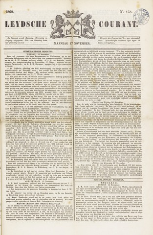 Leydse Courant 1862-11-17