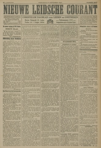 Nieuwe Leidsche Courant 1927-09-21