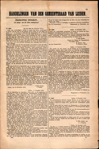 Handelingen van de Raad 1872-11-12