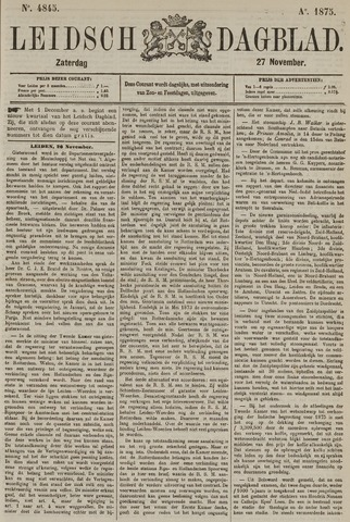 Leidsch Dagblad 1875-11-27