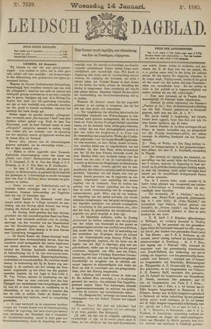 Leidsch Dagblad 1885-01-14