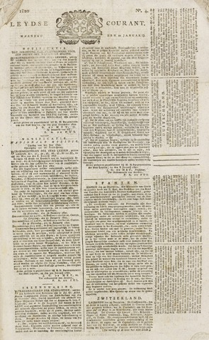 Leydse Courant 1820-01-10