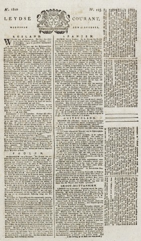 Leydse Courant 1820-10-18