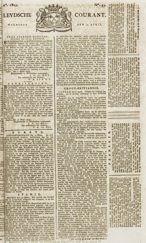 Leydse Courant 1825-04-13