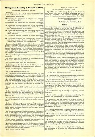 Handelingen van de Raad 1927-12-05